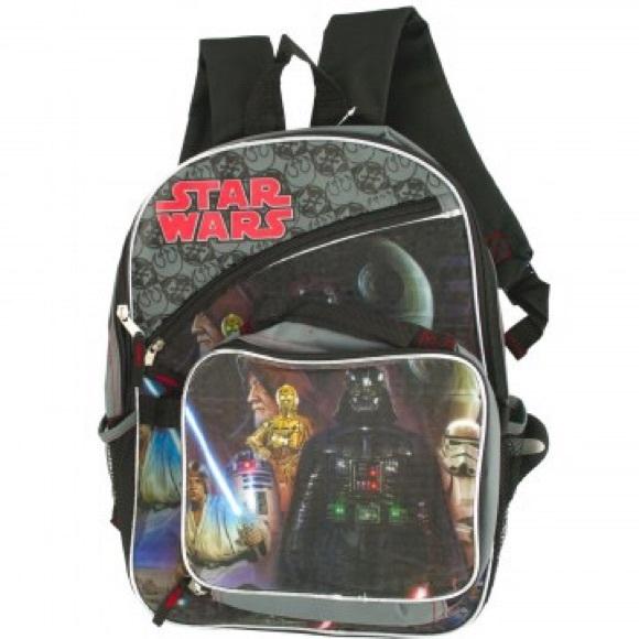 NWT Disney Store Star Wars Lunch Box Tote Bag School NEW